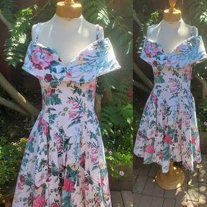 1980s vintage floral dress size 12